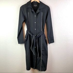 Anatomie Belted Long Slim Fit Stretch Jacket